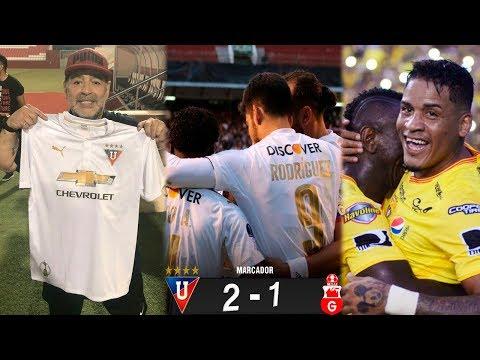 MARADONA HINCHA DE LIGA DE QUITO? | LDU 2-1 GUABIRÁ COPA SUDAMERICANA | ARROYO HUMILLÓ A 3 AZULES
