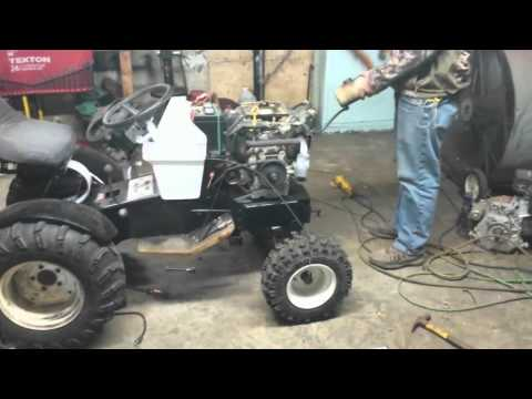 Sears Suburban ST12 Motor and Pulley Swap With New Paint Part 2