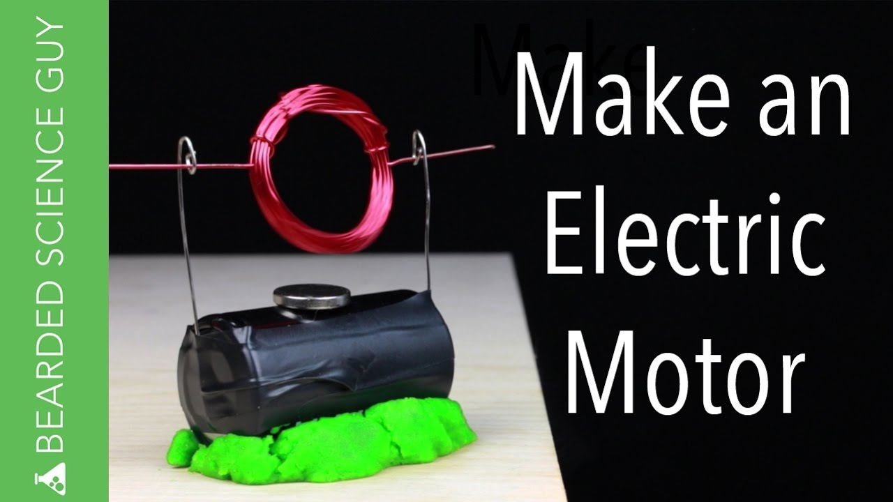 Make an electric motor youtube for How to make a electric motor