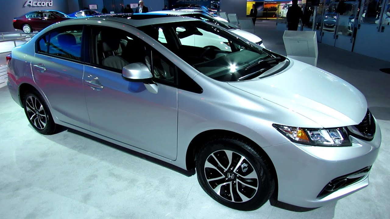 2013 Honda Civic EX L Navi   Exterior And Interior Walkaround   2013  Detroit Auto Show   YouTube