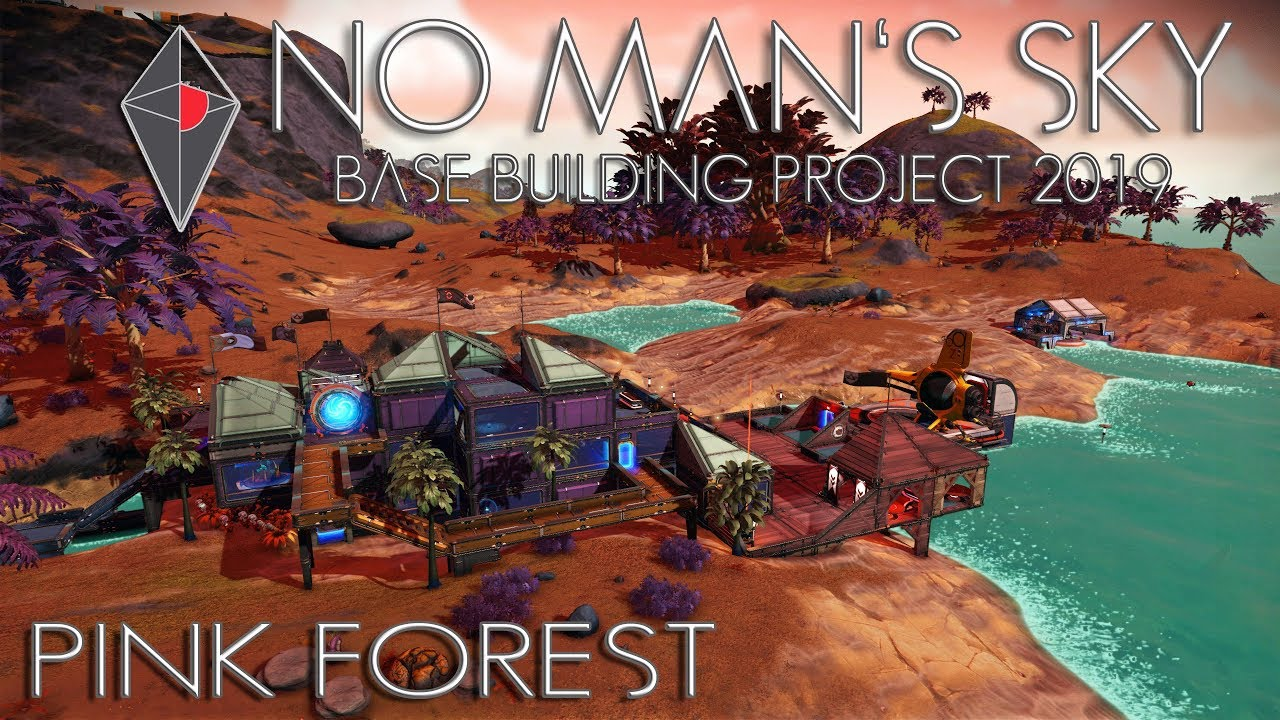 No Man's Sky: Base Building Project 2019 - Pink Forest (co-op)