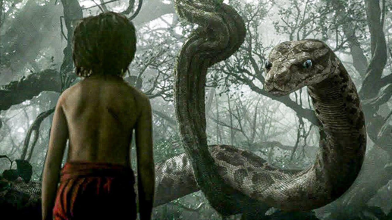 Mowgli Meets Kaa Scene The Jungle Book 2016 Movie Clip Youtube