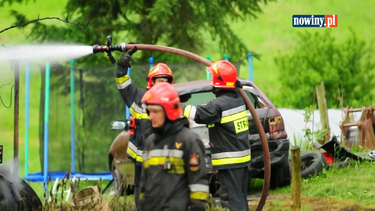 Pożar stodoły przy Staffa w Pszowie – 12 czerwca 2017