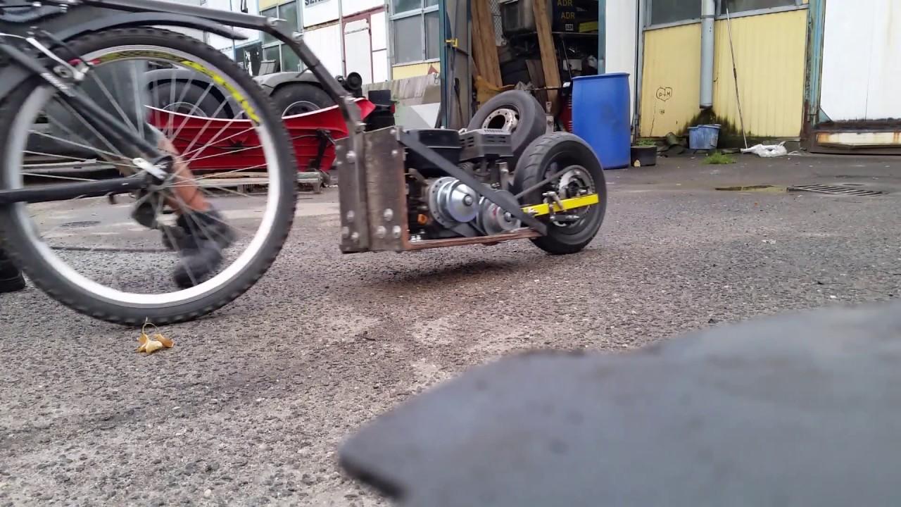 Przyczepa Rowerowa Z Silnikiem Gx200 Wersja 5 0 Bike Pusher