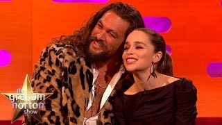 Jason Momoa Always Visits Emilia Clarke Whenever He's In London | The Graham Norton Show