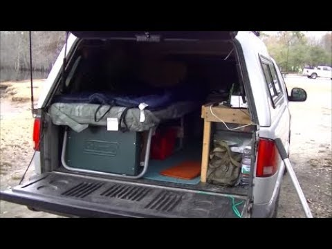 Low Budget Pickup Truck Cap Camper Build