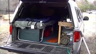 Low Budget Pickup Truck Cap Camper Build