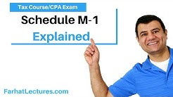 Schedule M-1 | Corporate Income Tax | CPA REG | Ch 17 P 12