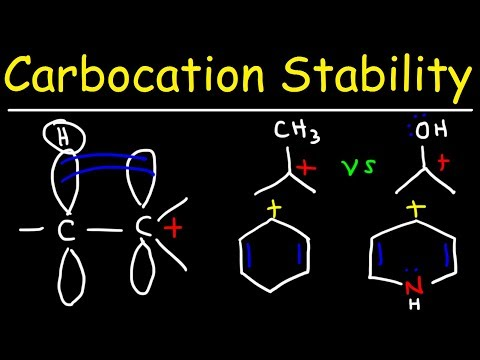 Carbocation Stability - Hyperconjugation, Inductive Effect & Resonance Structures