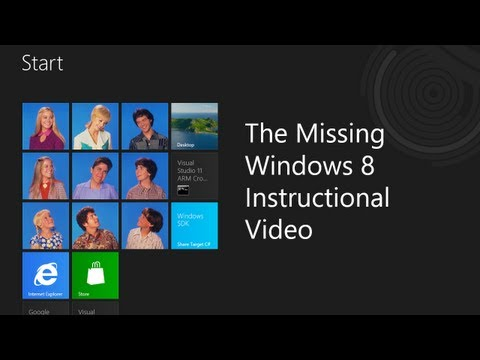 The Missing Windows 8 Instructional Video - Who moved my Windows 8 Cheese?