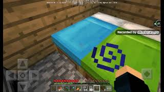 Playing minecraft pocket Edition!!
