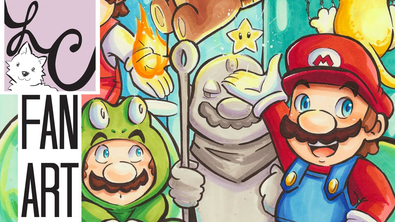 Super Mario Power Ups Coloring Pages