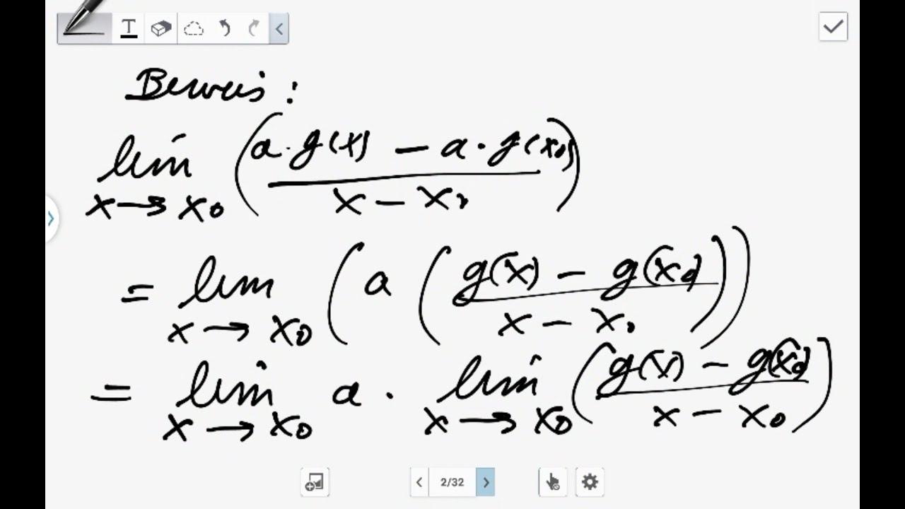 Beweis-Die Faktorregel der Differentialrechnung (Analysis) - YouTube