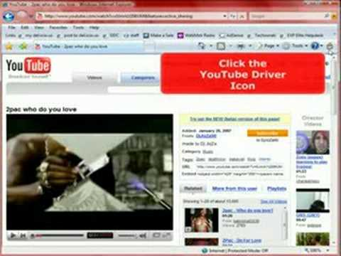 Automatically Downloads Videos From YouTube to wmv, avi, mpeg, mov, flv, mp3, mp4, or 3gp