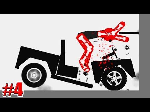 НОВЫЙ ДЖИП! Stickman Dismounting ПАСТЬ МОНСТРА Игры на Андроид 4 серия