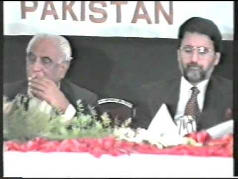 Javed Saifullah Khan welcomes Malik Meraj Khalid Prime Minister of Pakistan at APTMA seminar