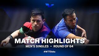 Joao Monteiro vs Vladimir Samsonov | WTT Star Contender Doha 2021 | Men's Singles | R64 Highlights