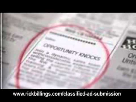 Submit Your Classified Ad To 500,000 Sites!