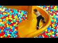 🐻 Indoor PLAYGROUND Family Fun Kids Play Center Slides Playroom Ball Pit Toddler Balls Playcenter