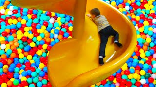 indoor playground family fun kids play center slides playroom ball pit toddler balls playcenter