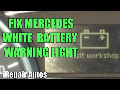 Mercedes White Battery Warning Light Fix