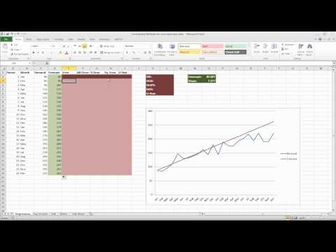 Forecasting in Excel Using Simple Linear Regression