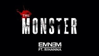 Repeat youtube video Eminem ft. Rihanna - The Monster (Clean + Lyrics)