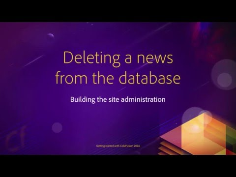 12 Building the site administration ## 02 Deleting a news from the database