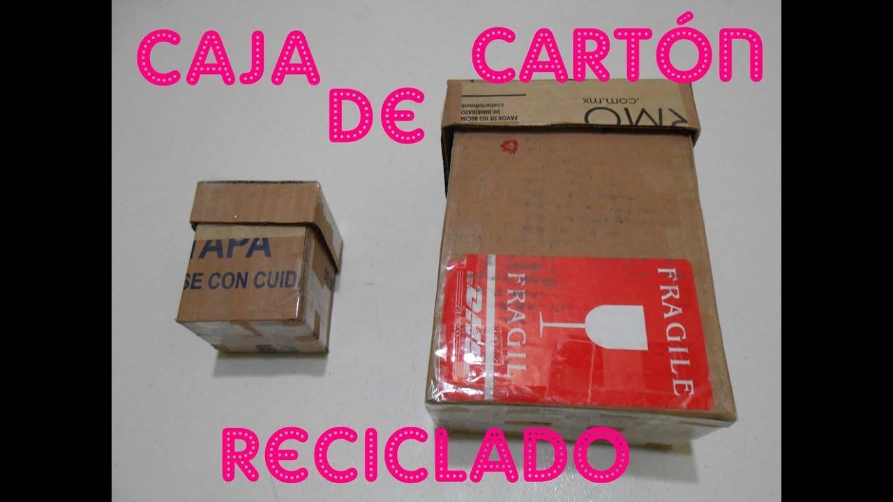 C mo hacer una caja de cart n reciclado youtube - Como forrar una caja con tela ...