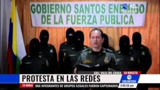 Uniformado de la Policía fue suspendido por criticar al Gobierno en videos