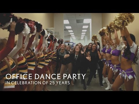 'I Wanna Dance with Somebody' One-Take Office Dance Party