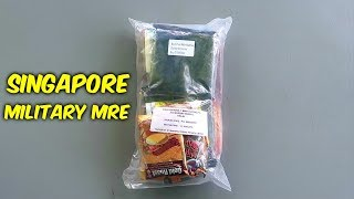 Tasting Singapore Military MRE (Meal Ready to Eat)