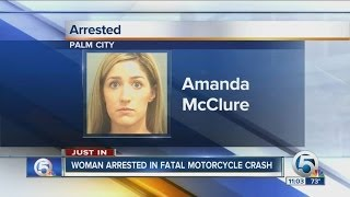 Woman arrested in fatal motorcycle accident
