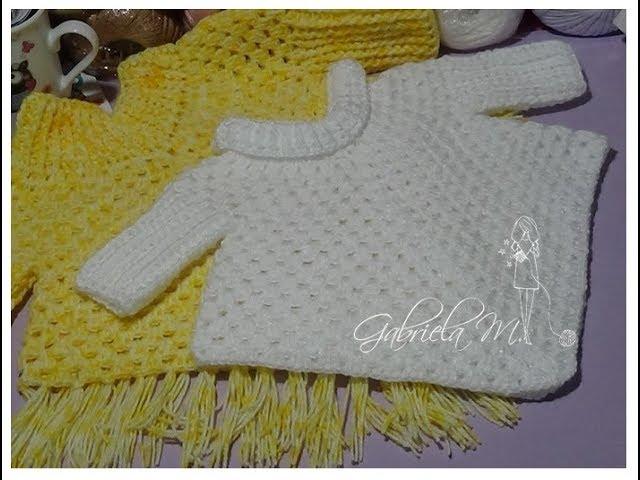 Poncho Con Mangas En Crochet Paso A Paso Todos Los Tamaños Youtube