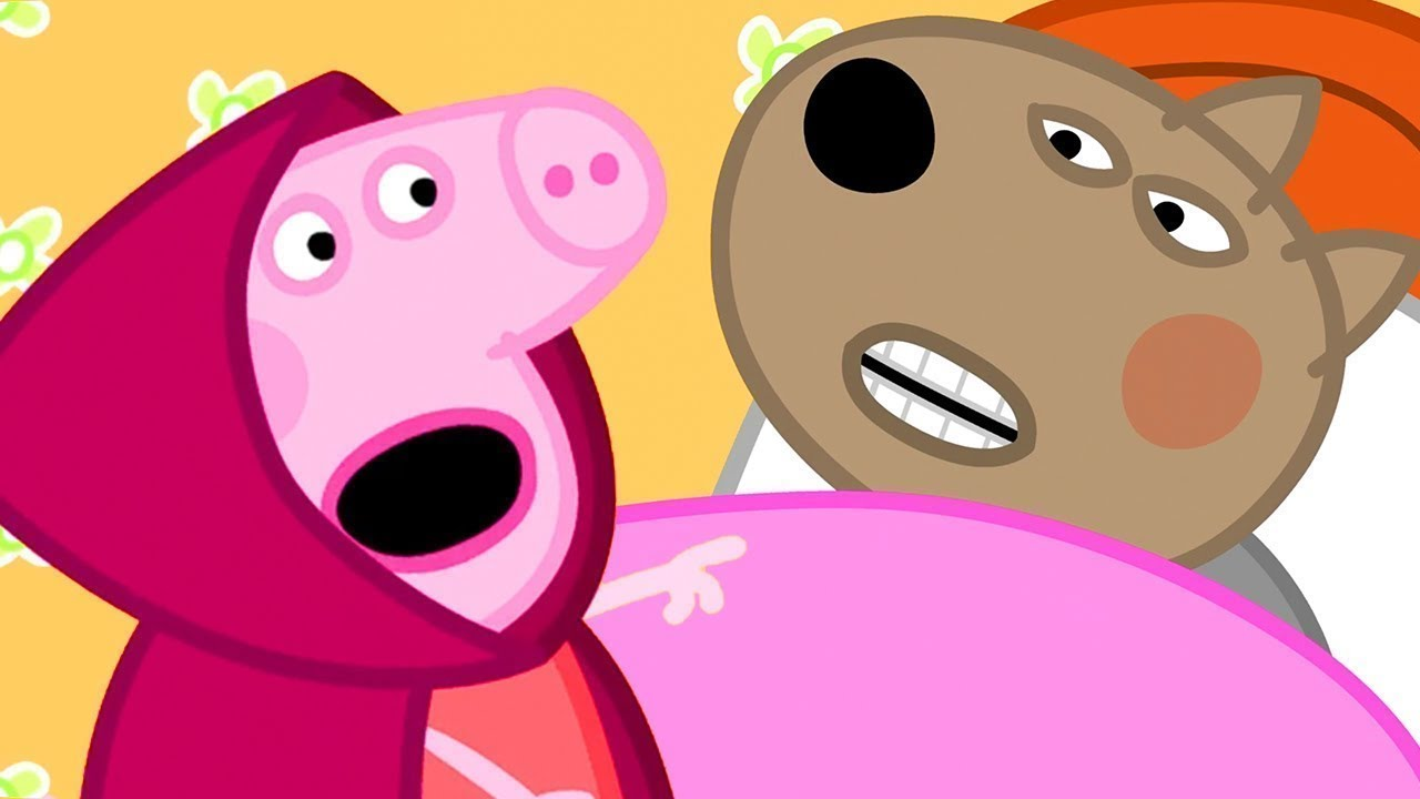Peppa Pig in Hindi - Little Red Riding Hood - हिंदी Kahaniya - Hindi Cartoons for Kids