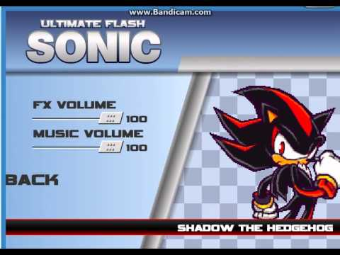 Ultimate Flash Sonic Cheat Code (SHADOW AND AMY) With Gameplay