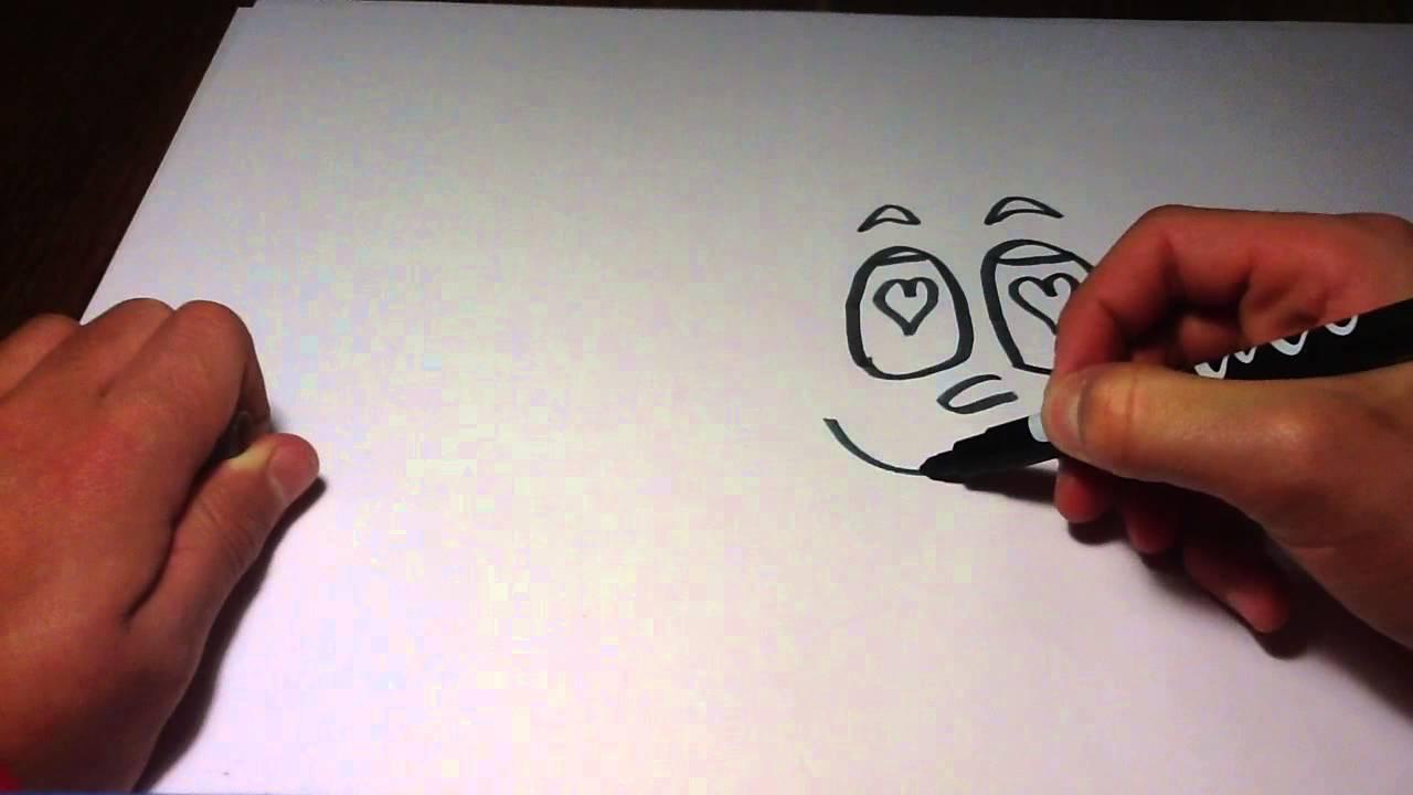 Faire Un Visage Amoureux Expression De Cartoon Youtube