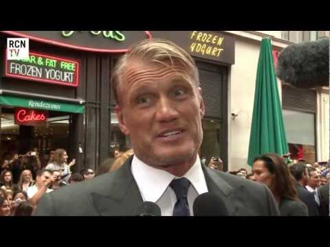 The Expendables 2 UK Premiere Dolph Lundgren Interview