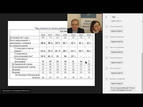 «Экономика истатистика»: презентация бакалаврской программы НИУ ВШЭ