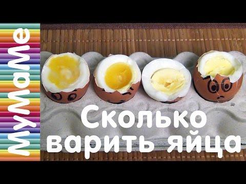 Сколько варить яйца - варим 4 яйца разное время от всмятку до вкрутую