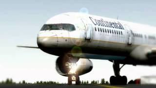 FS2004 - Continental Airlines Boeing 757-200 - Departure From Stockholm Arlanda