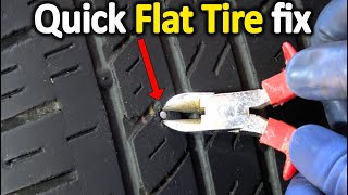 How to Fix a Flat Tire on the spot (Do It Yourself Guide)
