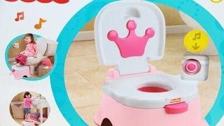 Pink Princess Stepstool Potty / Edukacyjny Nocniczek Królewny - Fisher Price - www.MegaDyskont.pl