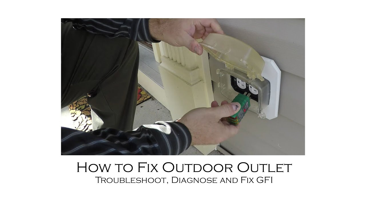 medium resolution of how to fix outdoor outlet that will not power how to identify and fix loose wiring on outlet