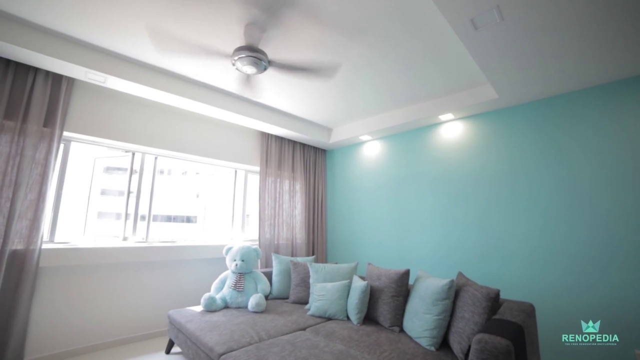 Interior Design Singapore | Cosy blue home (Tab Gallery) - YouTube