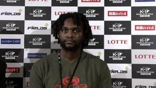 Ewerton Teixeira's Post-Fight interview of FieLDS K-1 WORLD GP 2010...