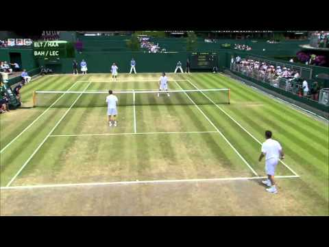 Funniest Tennis match EVER  - Wimbledon 2015 (BAHRAMI/LECONTE/HAARHUIS/ELTINGH))