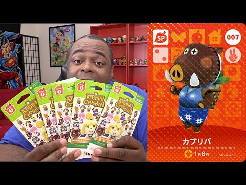 AMIIBO CARDS BLIND UNPACKING #4: Animal Crossing: Happy Home Designer (Series 1)
