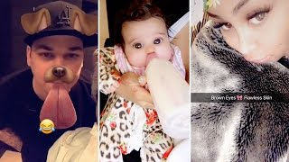 Blac Chyna | Snapchat Videos | February 24th 2017 | ft Dream Kardashian & Rob Kardashian