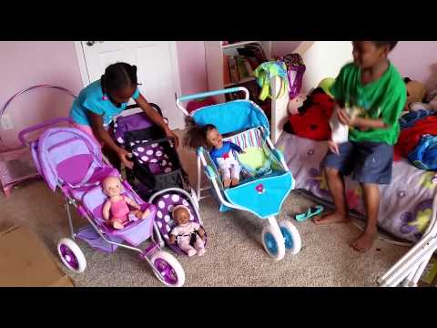 American Girl,You and me, I'coo doll Stroller - YouTube